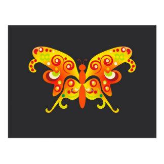 Butterfly Fantasy Orange by BestPeople Post Cards