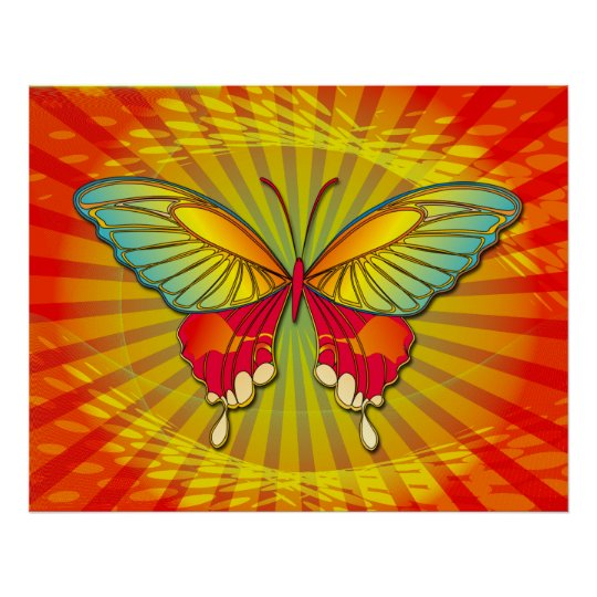 BUTTERFLY FANTASY POSTER
