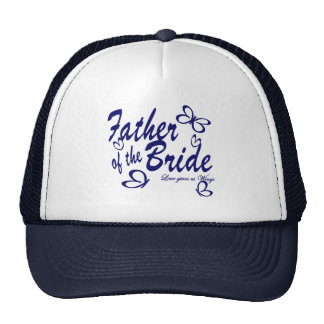 Butterfly/ Father of the Bride Trucker Hats