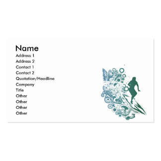 butterfly female surfer design pack of standard business cards