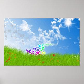 Butterfly Field Poster