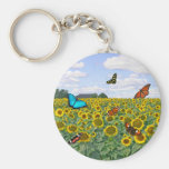 Butterfly Fields Forever Basic Round Button Key Ring