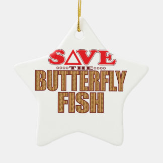 Butterfly Fish Save Christmas Ornament