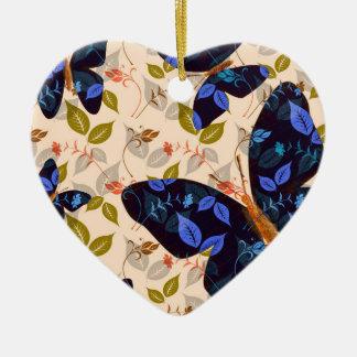 Butterfly Flight Ceramic Heart Decoration