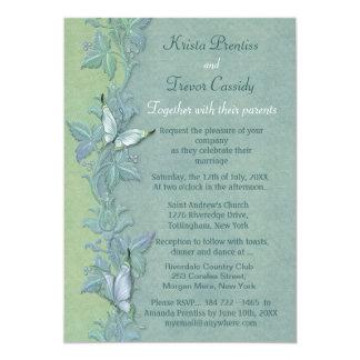 Butterfly Flight Floral Wedding Invitation