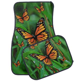 Butterfly floor car mats