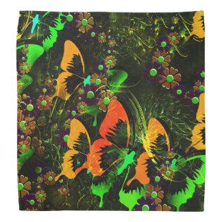 Butterfly Floral Bandana