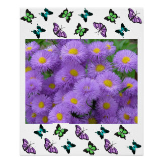 Butterfly Floral Posters