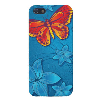 Butterfly Flourish Blue Cover For iPhone 5/5S