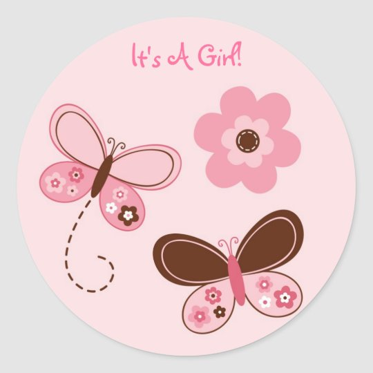 Butterfly Flower Favour Stickers Envelope Seals