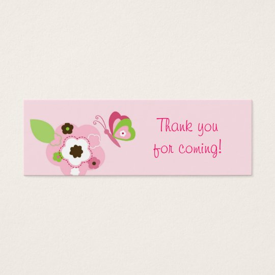 Butterfly Flower Garden Party Favour Gift Tags
