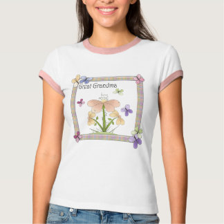 Butterfly Flower Great Grandma Mothers Day Gifts T-Shirt