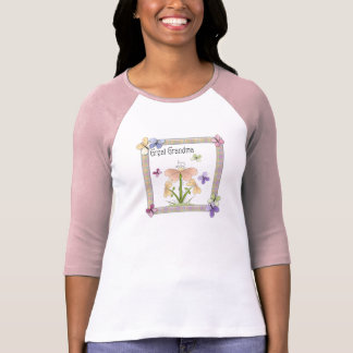 Butterfly Flower Great Grandma Mothers Day Gifts Tshirt