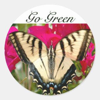 Butterfly & Flower w/ Go Green sticker