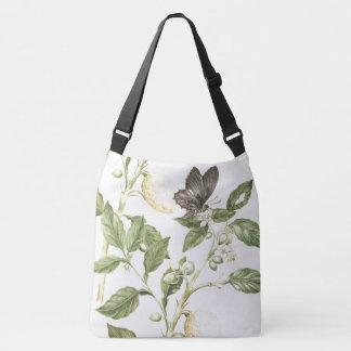 Butterfly Flowers Blossoms Lemons Fruit Tote Bag