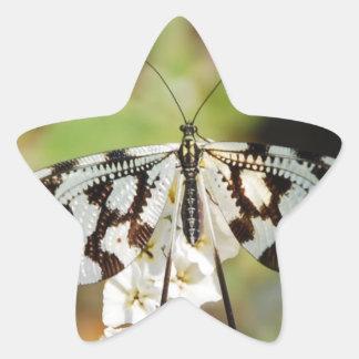 Butterfly Flowers Blossoms Wedding Shower Peace Sticker