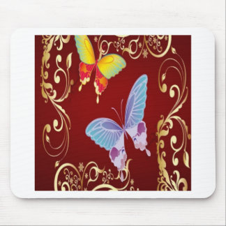 Butterfly flowers design mousepad