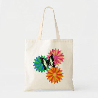 Butterfly Flowers Ladies Hand Bag