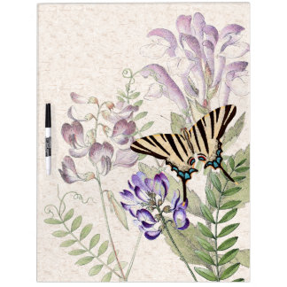 Butterfly Flowers Moth Wildflowers Dry Erase Board