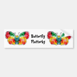 Butterfly Flutterby Bumper Stickers