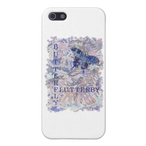 Butterfly Flutterby Pink Blue Case For iPhone 5
