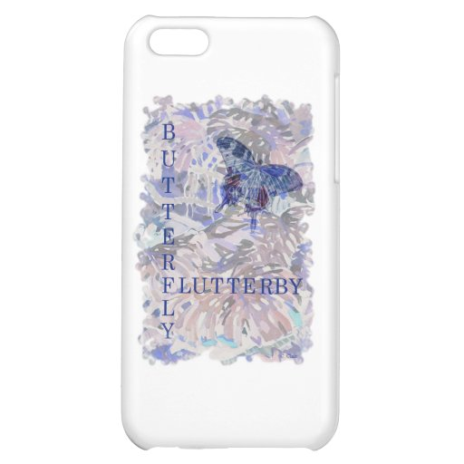 Butterfly Flutterby Pink Blue iPhone 5C Cover