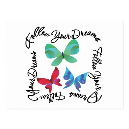 Butterfly - Follow Your Dreams Post Cards