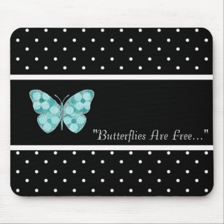 BUTTERFLY-FREE-TEMPLATE-VINTAGE-STYLISH MOUSE MAT
