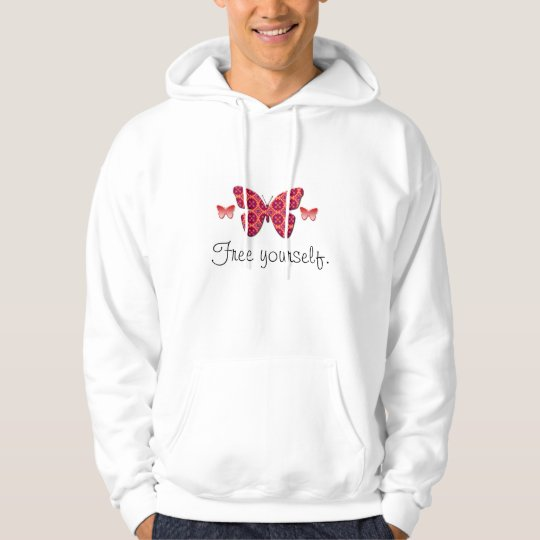 Butterfly, Free yourself.  Hoodie
