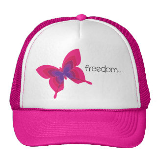 Butterfly Freedom Pink Hat