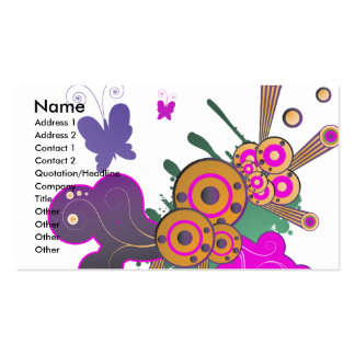 butterfly frenzy vector abstract pack of standard business cards