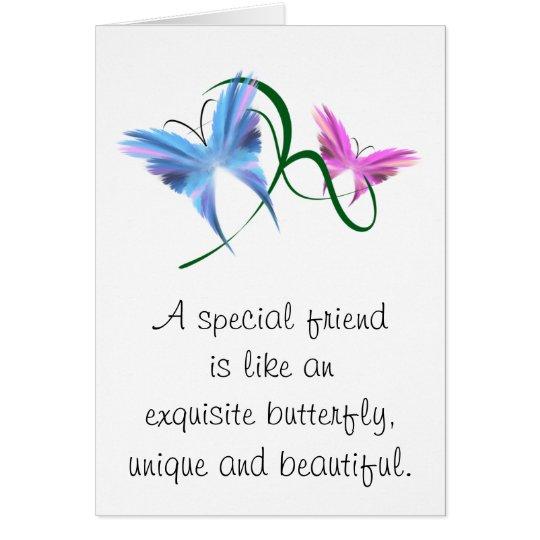 Butterfly Friendship Notecard