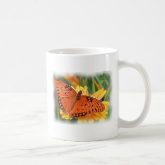 butterfly_fritillary_gulf_8900H Basic White Mug
