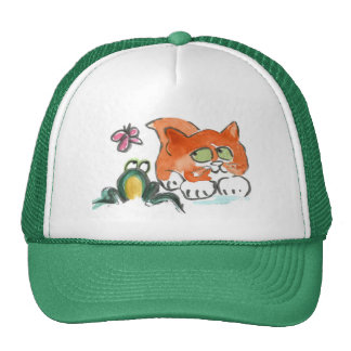 Butterfly, Frog and Kitten Cap