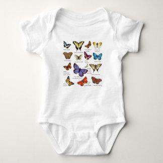 Butterfly Full Color Illustrations popular types Baby Bodysuit