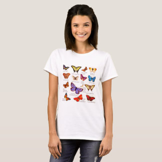 Butterfly Full Color Illustrations popular types T-Shirt
