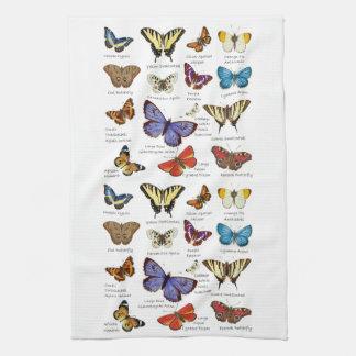 Butterfly Full Color Illustrations popular types Tea Towel