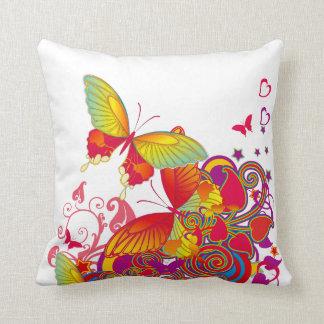 Butterfly Garden ArtDeco American MoJo Pillow Cushion