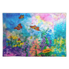 Butterfly Garden Cloth Placemat