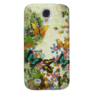 BUTTERFLY GARDEN Floral Design Galaxy S4 Case