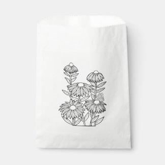 Butterfly Garden Line Art Design Favour Bags