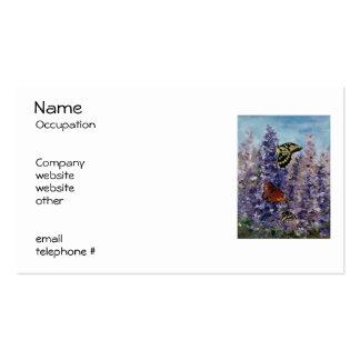 Butterfly Garden Return Address Labels Business Card Template