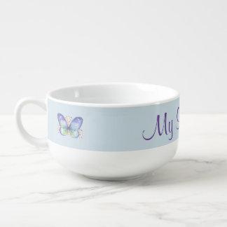Butterfly Garden Soup Mug