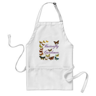 Butterfly Gardener Saying Adult Apron