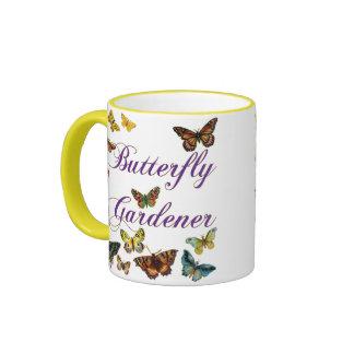 Butterfly Gardener Saying Ringer Mug