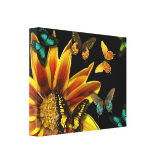 Butterfly Gardens Gallery Wrapped Canvas