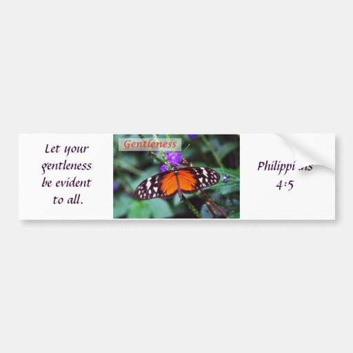 Butterfly - Gentleness Bumper Stickers