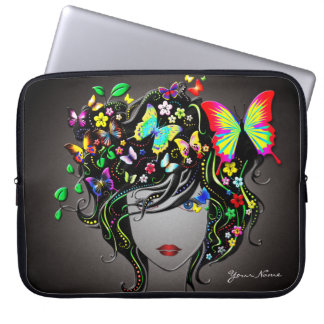 Butterfly Girl 1 Laptop Sleeve