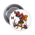 Butterfly Girl Floral Butterflies Pinback Buttons