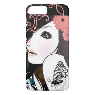 Butterfly Girl Floral Swirls iPhone 8 Plus/7 Plus Case